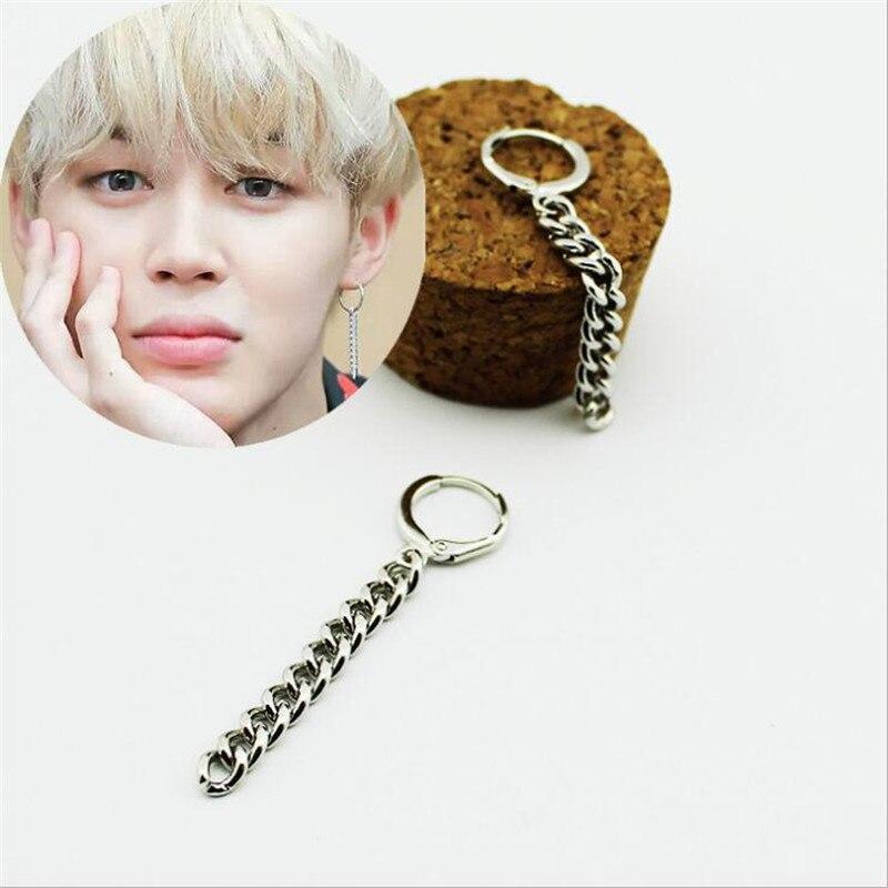 Youpop KPOP Bangtan Boys Album BTS JIMIN Stud Earrings Korean Fashion Jewelry Accessories For Mens And Womens Earring FR093