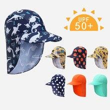 Летняя кепка от солнца для детей от 3 до 10 лет, дышащая, защита от ушек, складная, быстросохнущая, водонепроницаемая, для детей, для мальчиков и девочек, уличная Кепка от солнца, Лидер продаж