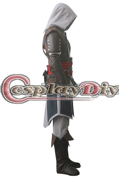 2da30669b2693 Cosplaydiy Free Shipping Customized Game Cosplay Outfit Black Flag Edward  Kenway Cosplay Costume