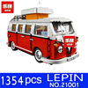 LEPIN 1354pcs 21001 Technic Series Creator Volkswagen T1 Camper Van Model Building Blocks Bricks Toys For