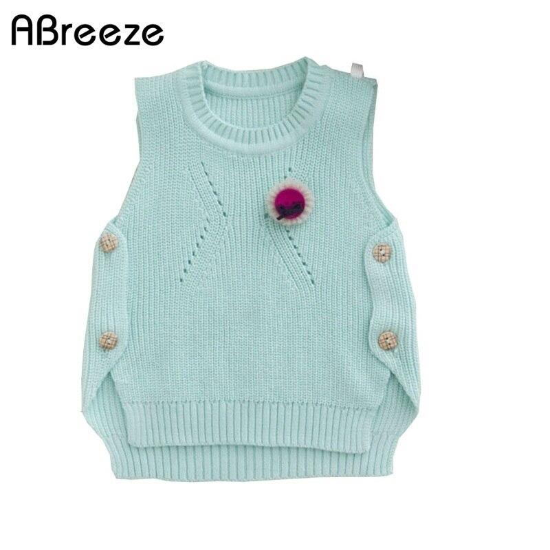 1-4year Jahre Baby Pullover Weste 2019 Frühjahr Neue Europäischen Und Amerikanischen Stil Baumwolle Gestrickte Weste Pullover Für Kleinkind Mädchen Elegant Und Anmutig