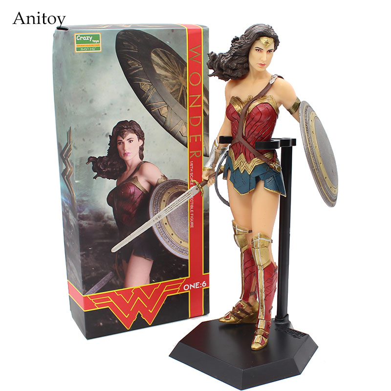 Сумасшедший Игрушечные лошадки Wonder Woman фигурку 1/6-й шкалы Окрашенные ПВХ Рисунок Коллекционная игрушка 26 см kt4074