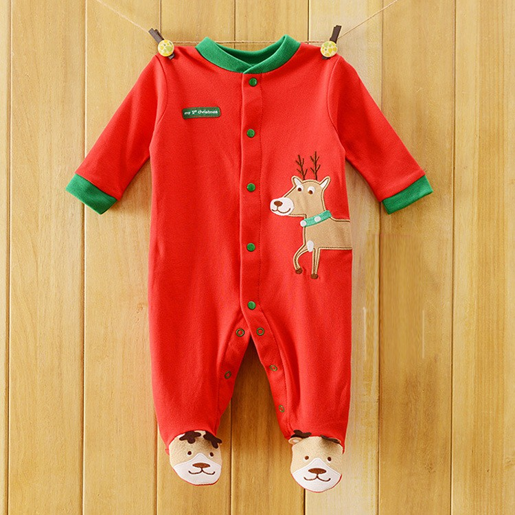 Christmas Baby Rompers Santa Newborn body suits X'mas babywears Baby Overall Baby Clothes W156 9