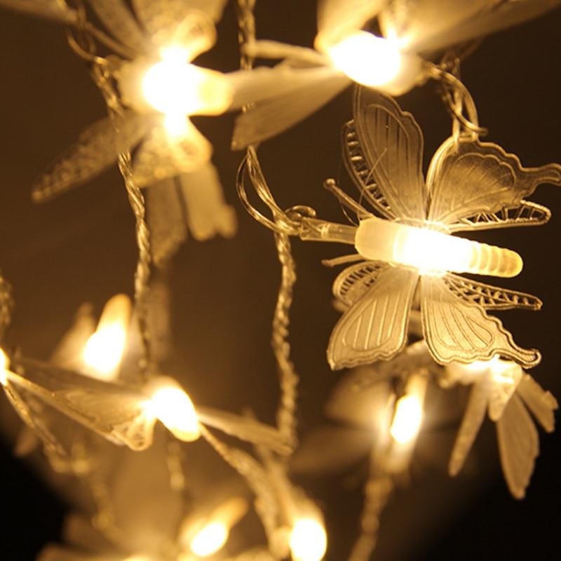 Lumineux 5 M 20 led Libellule/Papillon/Pissenlit De Noël Led Cordes Fée lumière Pêche Intérieur Extérieur Jardin Arbre décoration