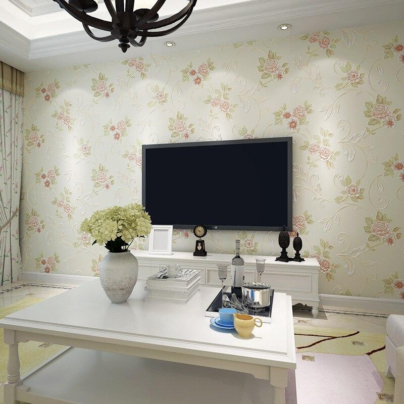 Beibehang papier peint pour murs 3 d HD bronzant chaud européen papier peint pastorale salon chambre fond 3D papier peint rouleau - 2