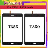 10pcs/lot 8.0'' For Samsung Galaxy Tab A T355 T350 SM T355 SM T350 Touch Screen Digitizer Sensor Glass Panel Tablet Replacement