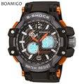 S choque hombres deportes relojes dual display analógico digital relojes Electrónicos LED BOAMIGO marca de cuarzo relojes de pulsera 50 M impermeable