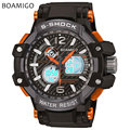 s shock men sports watches dual display analog digital watches LED Electronic BOAMIGO brand quartz wristwatches 50M waterproof