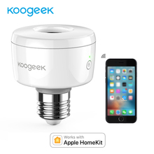 Koogeek Wifi Smart Socket Light Bulb Adapter E26 Smart Lamp Base for Apple HomeKit Siri Smart Remote Control [Only for IOS]