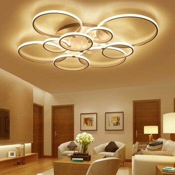 Braun/weiß Moderne LED Decke kronleuchter für wohnzimmer ...