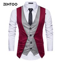 Bettlives Mens Casual Shirt Fake Two Pieces New Autumn Fashion Brand Men Clothes Slim Fit Men