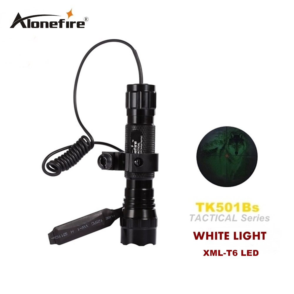LED tactical Flashlight 501B XML-T6 Torch Flash Light Lanterna lampe torche + Remote Pressure Switch & Gun Mount scope mounts mini stainless steel led flashlight xml t6 torch light lanternas zoomable lampe torche for bike bicycle cycling light