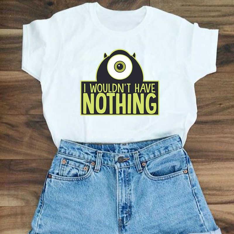 Showtly IK niet ZOU HEBBEN NIETS hot-selling korte mouwen dames t-shirts casual katoenen tee tops