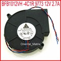BFB1012VH-4C1R 9773 12 V 2.7A 97*97*33mm 9733 Turbo Ventilador Industrial Refrigerador Ventilador de Refrigeración
