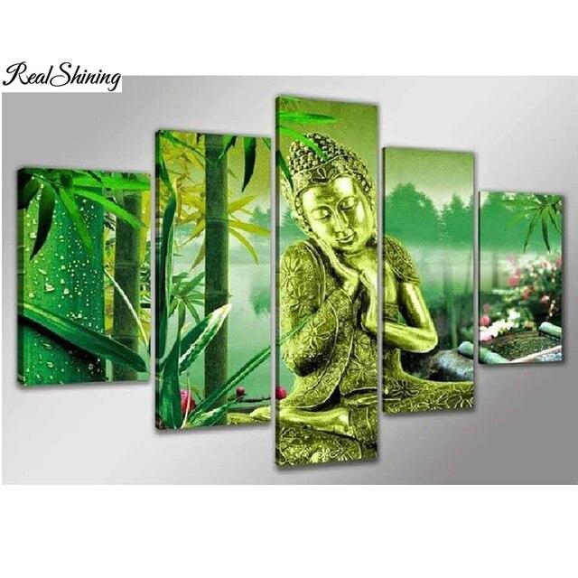 Realshining 5d Diy Diamond Embroidery Crafts Direct Green Buddha New
