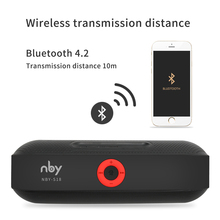 NBY S18 Portable Bluetooth Speaker with Dual Driver Loudspeaker,12 Hours Playtime,HD Audio Subwoofer Wireless Speakers with Mic