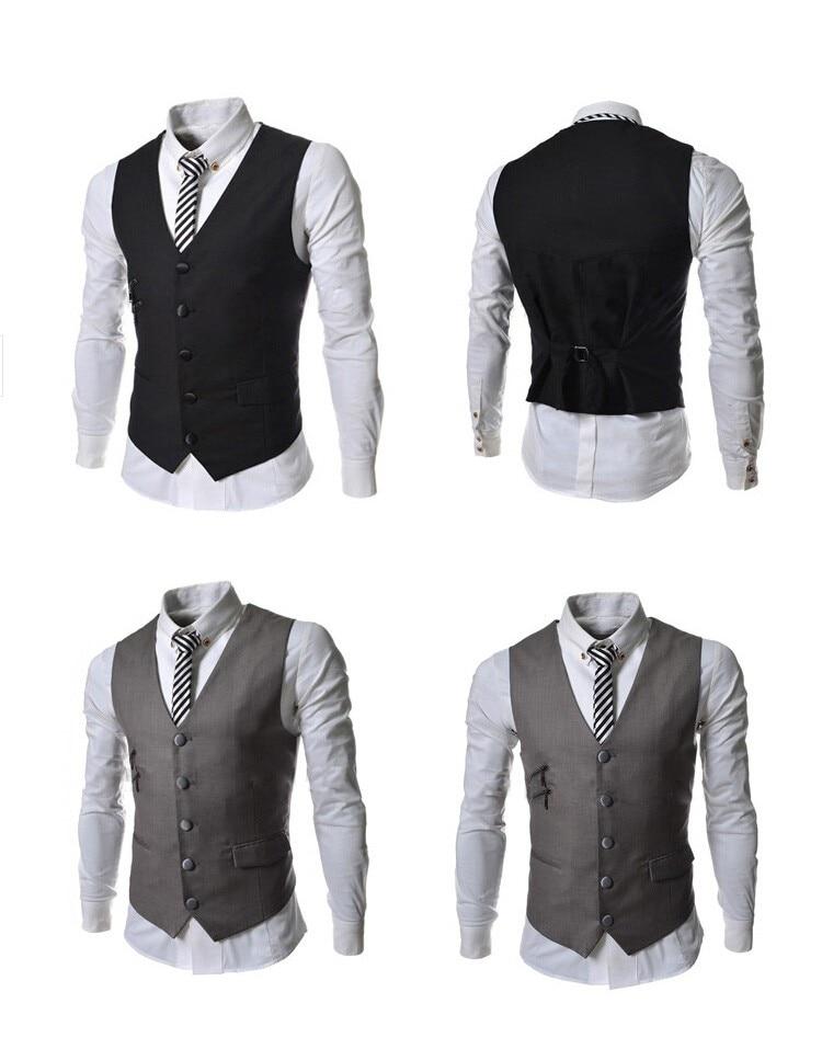 2017 New Mens Suits Men Slim Fashion Vest Dress Sleeveless Wool Vest Formal Business Casual Groom Groomsman Homens Colete 5893 Suits & Blazers
