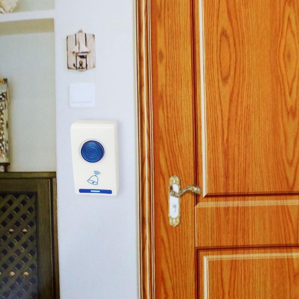 Купить с кэшбэком LED Wireless Chime Door Bell Doorbell & Wireles Remote control 32 Tune Songs White Home Security Use Smart Door Bell