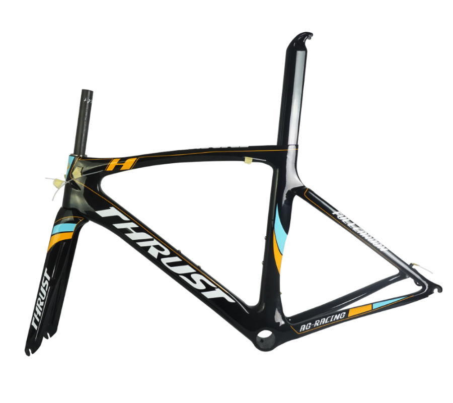 THRUST Carbon Road Frame Road Bike Carbon Frame 46 49 52 54 56 58cm Large Size Bicycle Frame 2 Years Warranty carbon road frame 2017 high quality ud carbon road bike bicycle frame 49 52 54 56 58cm carbon frame red yellow bicycle parts