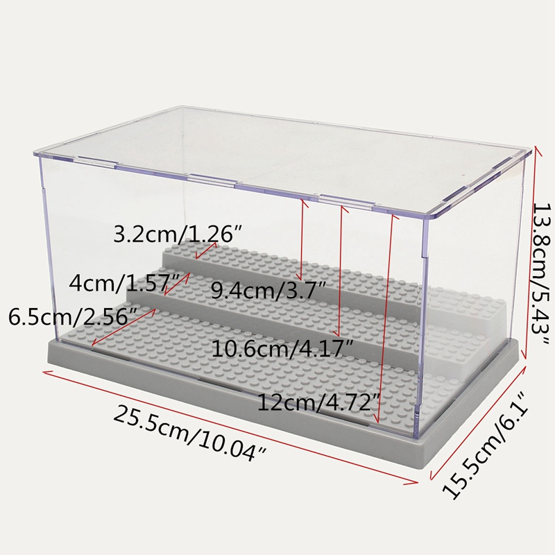 3 Steps Building Block Collection ShowCase Acrylic Dustproof Display Box Case Compatible Figures Bricks For Kids Toys in Blocks from Toys Hobbies