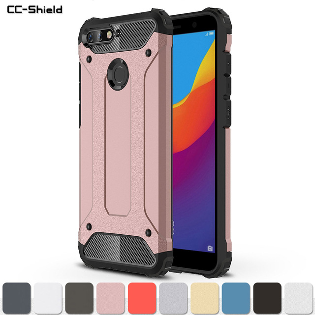 new styles 60107 b29f1 US $4.08 7% OFF Armor Case for Huawei Y6 Prime 2018 ATU L31 Y6Prime 2018  Phone Bumper Fitted Case for Huawei Y 6 Prime 2018 ATU L31 Frame Cover-in  ...