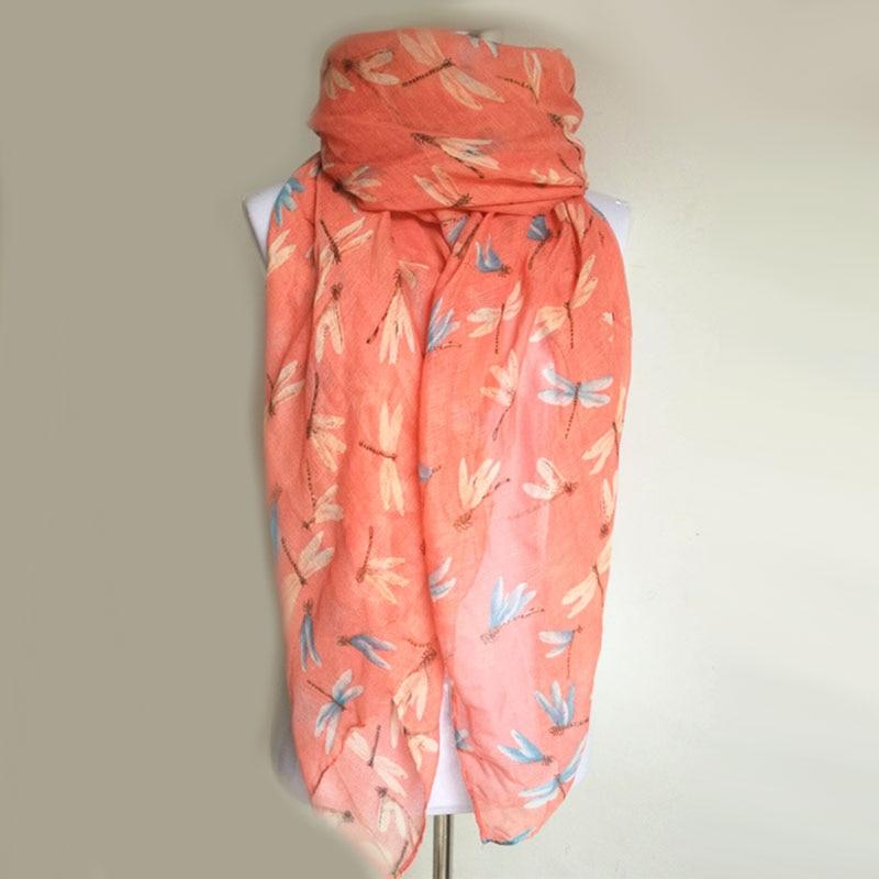 Nouveauté mode imprimé animal écharpe libellule dames foulards - Accessoires pour vêtements - Photo 3