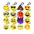 30 Pçs/lote Mista 5 CM Anime Emoji Smiley Emoticon Pingente Chaveiro Divertido Brinquedos de Pelúcia Macia Mini Almofada Stuffed Plush Doll presente