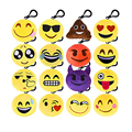 30 Pcs/Lot Mixed 5CM Anime Emoji Pendant Keychain Fun Smiley Emoticon Soft Plush Toys Mini  Cushion Stuffed Plush Doll Gift