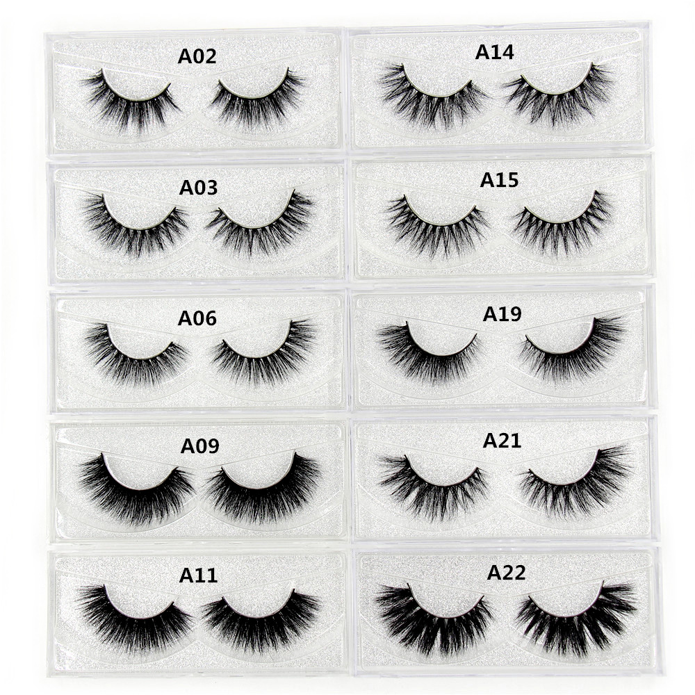 Mink genelor 3D Mink Lashes Gros Handmade Full Strip False Genele Cruelty gratuit coreeană Mink Lashes 34 stil genele false