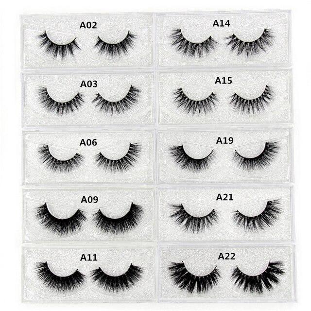 d10583ded8c Mink Eyelashes 3D Mink Lashes Thick HandMade Full Strip False Eyelashes  cruelty free Korean Mink Lashes 34 Style False Eyelashes