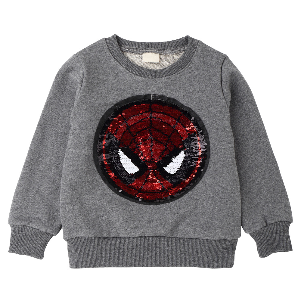 e6d29202aab ... T-Shirts For Boys T Shirt Spider Man Reversible Sequin T Shirt  Switchable Toddler Sweatshirt ...