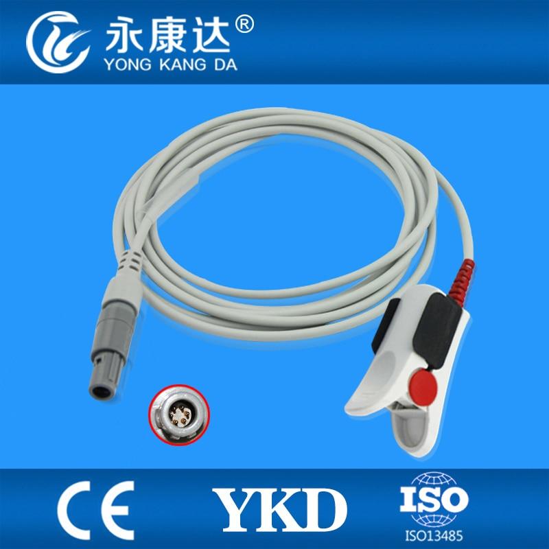 Compatible For Mindray PM7000,6201,8000,9000mec 1000/2000,509B Adult  Finger Clip Spo2 Sensor 6pins