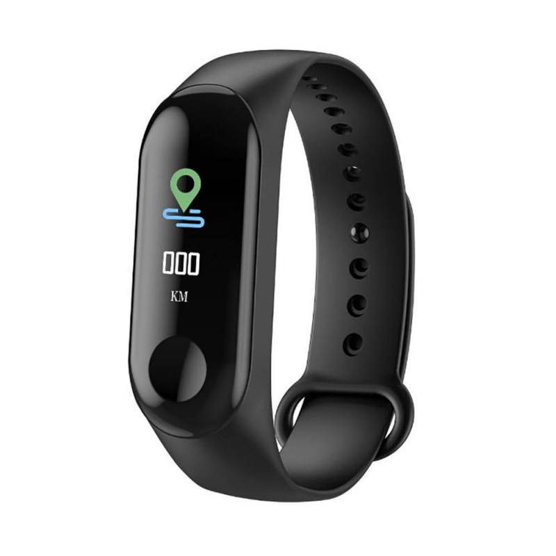 M3 Smart Wristband Bracelet Heart Rate Blood Pressure Monitor Smart Watches Touch Screen Pulse Step Time(China)
