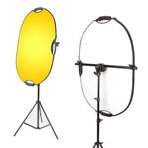 Image 2 - Uchwyt wspornika Selens głowica skrętna reflektor podparcie ramion tarczy z 2m lekki statyw podstawa tła uchwyt do statywu dla