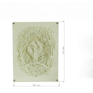 Image 5 - Brightinwdライトシャドウ紙ランプ 3D夜の光魚座恋人ベッドサイド装飾テーブルランプ
