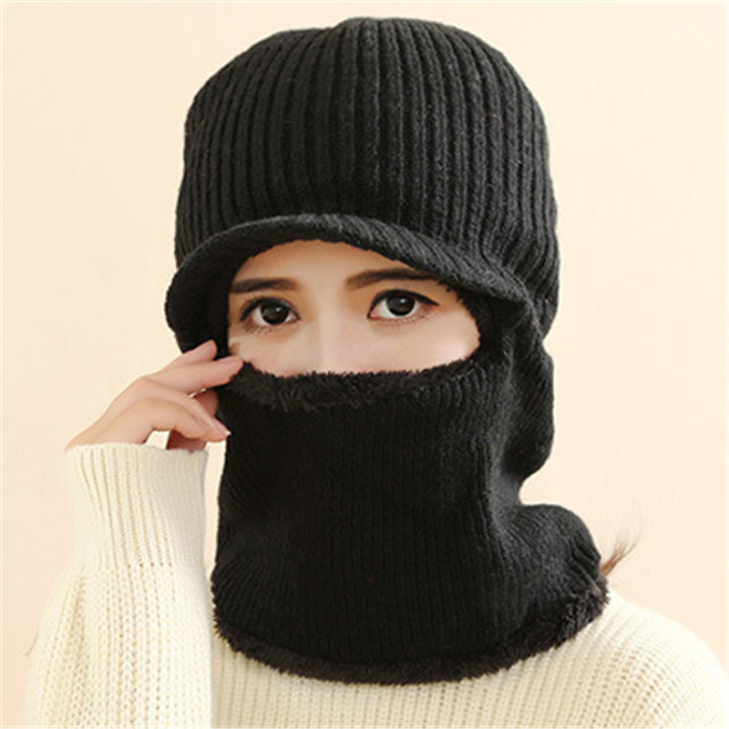 Latest Hot Selling multi functional knit cap Balaclava mask winter wool Hats adult men and women neck warmer thick It takes mulinsen latest lifestyle 2017 autumn winter men