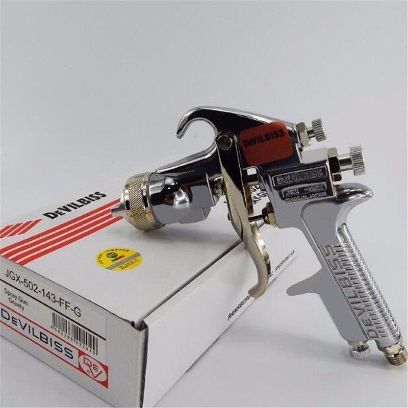 Wholesale 5 X Devilbiss JGX-502 Professional Painting Spray Gun Gravity Feed 1.4 mm nozzle with Original cup and box devilbiss gti pro base купить детали