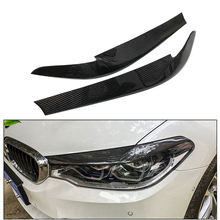 For BMW G30 5 series Car Styling Carbon Fiber Headlights Eyebrows Eyelids Trim Cover Front Headlamp Accessories