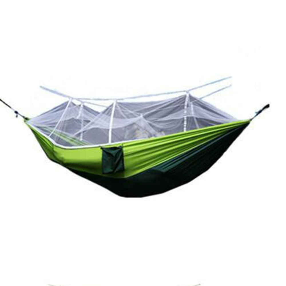 Portable Travel Outdoor Camping Hammock Ultra Light Swing Sleeping Hanging Bed With Mosquito Mesh Cover Fit 2 Person Camping & Hiking