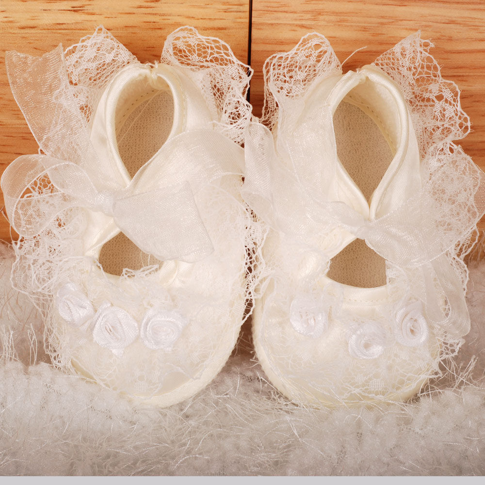 Ivory Satin Baby Shoes