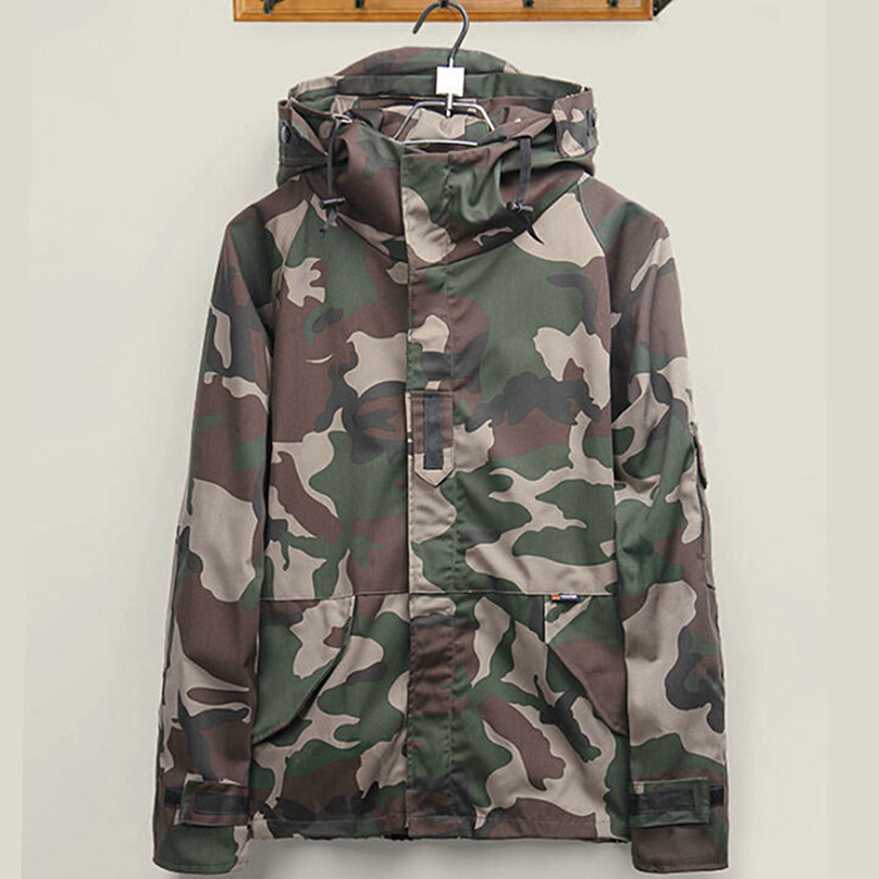Brand Harajuku Skateboard Camouflage Camouflage Jackets Men font b Women b font Lovers Windbreaker Windproof Clothes