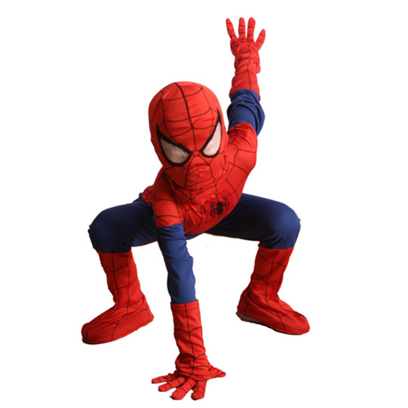 Complete Child Boy Marvel Classic Ultimate Spiderman Halloween Superhero Costume