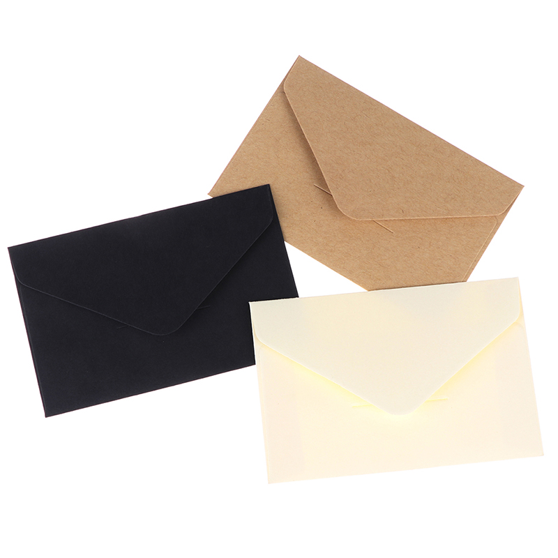 20pcs/set Classical Kraft Blank Mini Paper Window Envelopes Wedding Invitation Envelope Gift Envelope