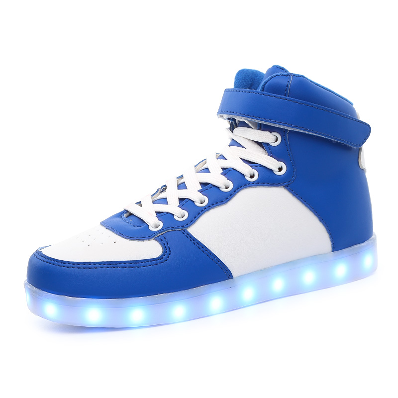 High Shoes 7 Colorful LED Lights With USB Boy and Girls Youth - Children's Shoes