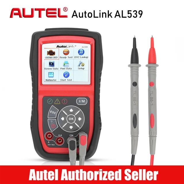 AUTEL AutoLink AL539 OBD2 Car Code Reader Scanner Electrical Voltage Test Tool AVO Meter Auto Diagnostic Tool Battery Tester
