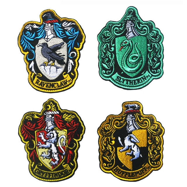 1Pcs Harry Potter House Of Gryffindor Crest Logo Large Embroidered Patch  Army Morale Tactical Military Badge