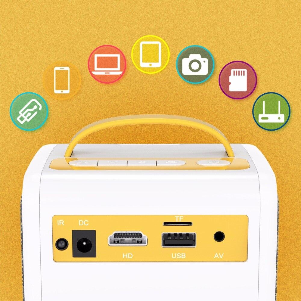 Q2 MINI Projector 700 Lumens Parent-child Portable Projector Mini LED TV Home Beamer Children's gift, Children Education (7)
