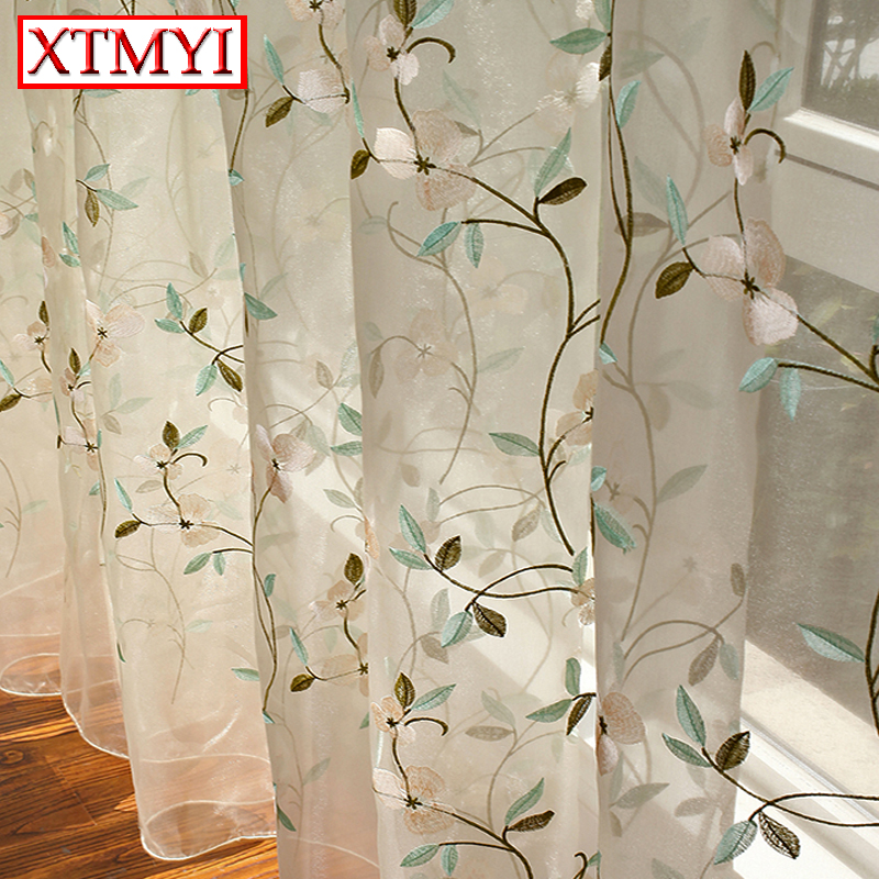 tul bordado visillos cortinas para la ventana de la sala cortinas para el dormitorio cocina modern