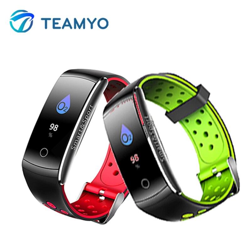 Teamyo Smart Band IP68 Waterproof Heart Rate Monitor Fitness Bracelet Watchers Blood Pressure Information Storage For AndrIOS