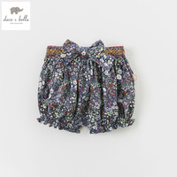DB4833 Dave Bella Summer Baby Girls Floral Shorts Infant Trousers Toddle Clothes Girls Pants Kids Shorts